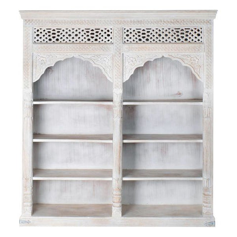 Shelves Dekodonia White Mango wood (180 x 40 x 200 cm)
