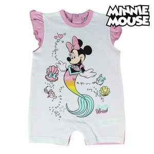 Baby's Short-sleeved Romper Suit Minnie Mouse Pink Turquoise