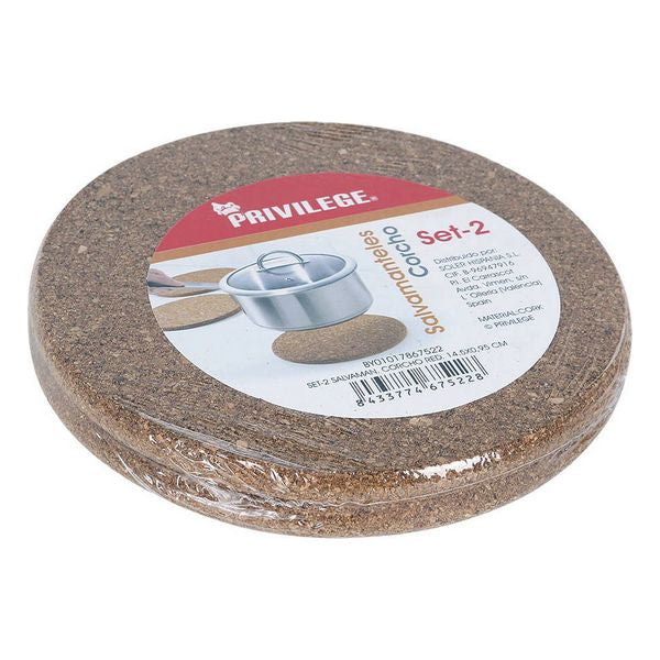 Table Mat Privilege Cork Circular (2 Uds)