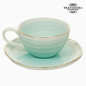 Cup with Plate 250 ml - Queen Kitchen Collection by Bravissima Kitchen