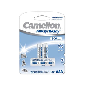 Rechargeable Batteries Camelion BAT422 LR3 AAA 800 mAh (2 uds)