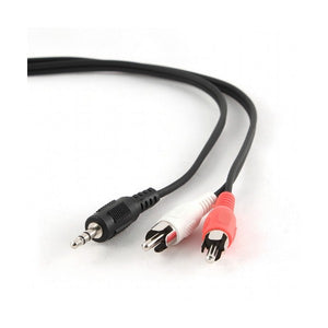 Audio Jack (3.5mm) to 2 RCA Cable GEMBIRD CCA-458-2.5M 2,5 m Black