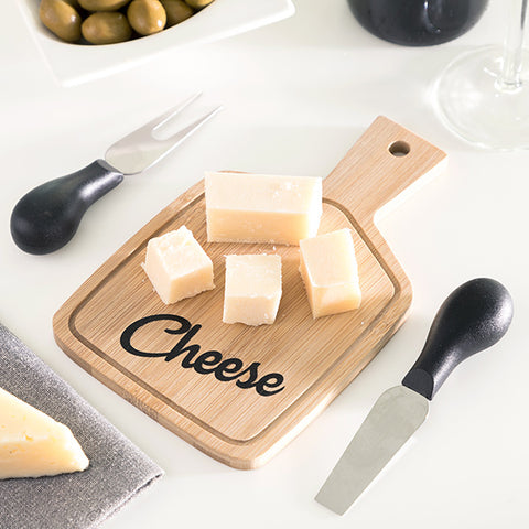 Cheeseboard & Cheese knives Bamboo
