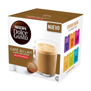 Coffee Capsules with Case Nescafé Dolce Gusto 97934 Café Au Lait (16 uds) Decaffeinated