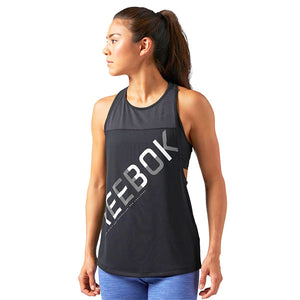 Tank Top Women Reebok WOR GRAPHIC MESH TANK Black (Usa size)