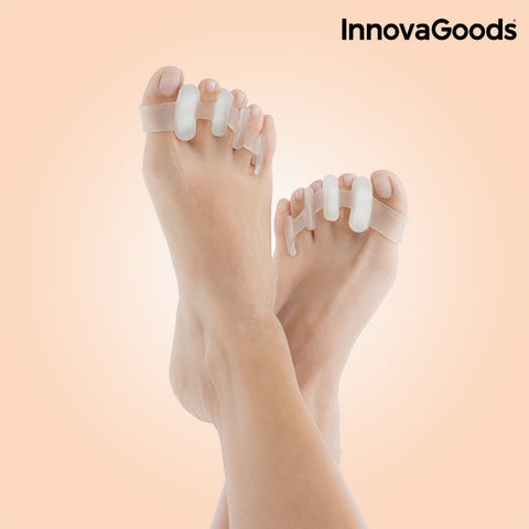 InnovaGoods Relaxing Toe Separator (Pack of 2)