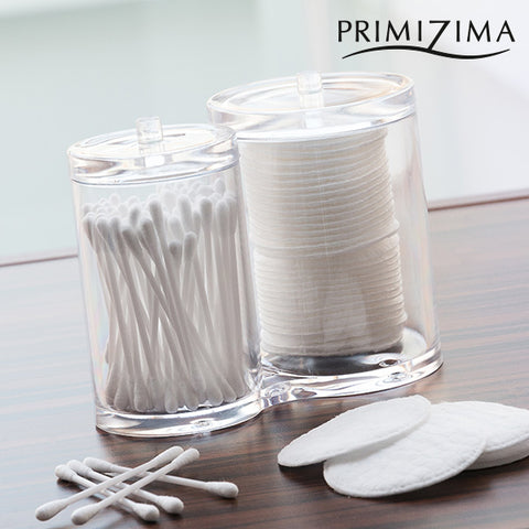 Primizima Cotton Buds and Cotton Pads Organiser