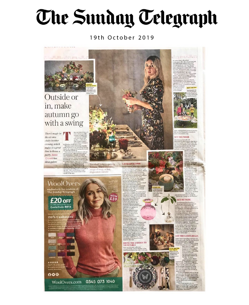 Autumn Dinner Party Sunday Telegraph Interview