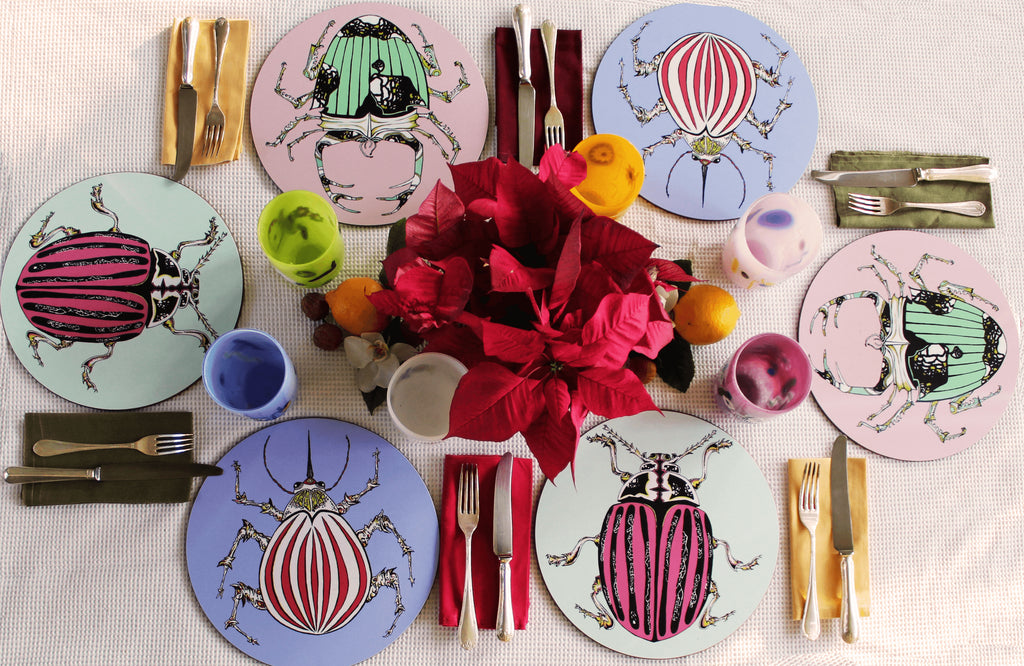 *Set of 6 Beetle Placemats*