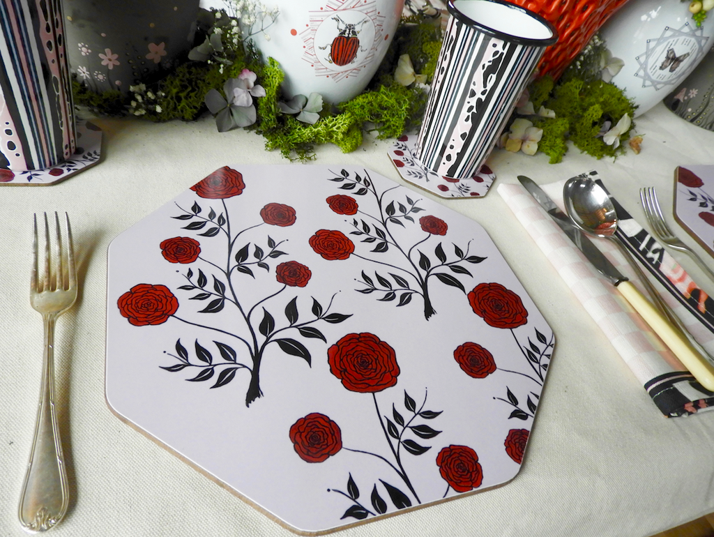 Rose Garden Hexagon Coaster