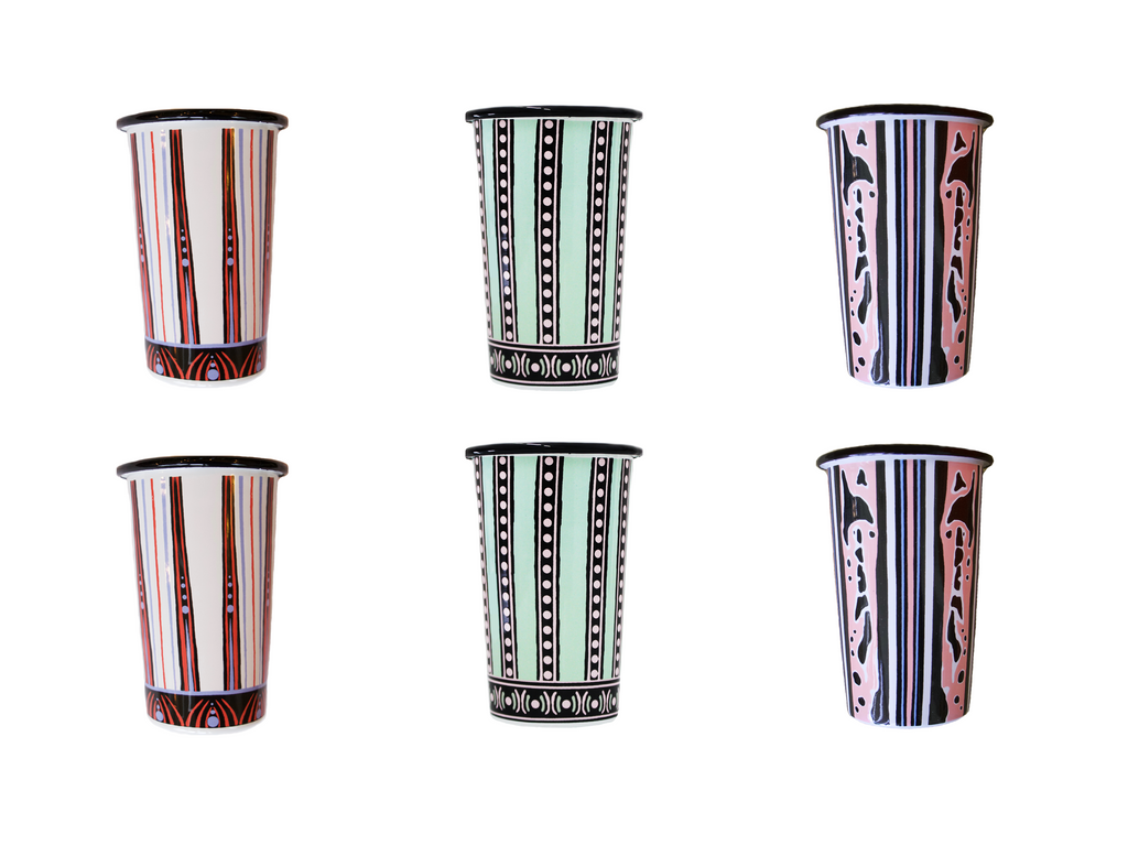 The Mix Beetle Set of 6 Handmade Tumblers