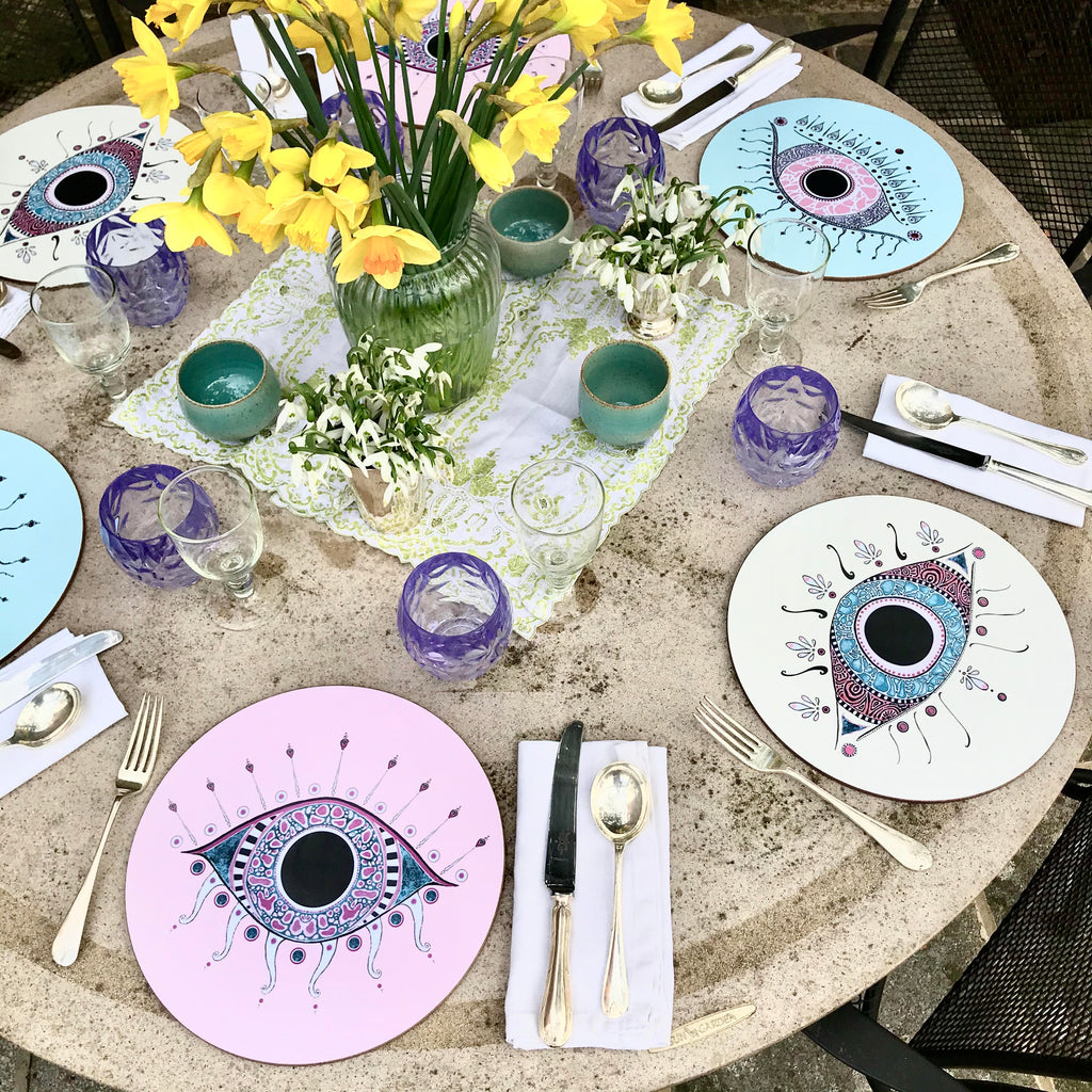 *Set of 6 Evil Eye Placemats