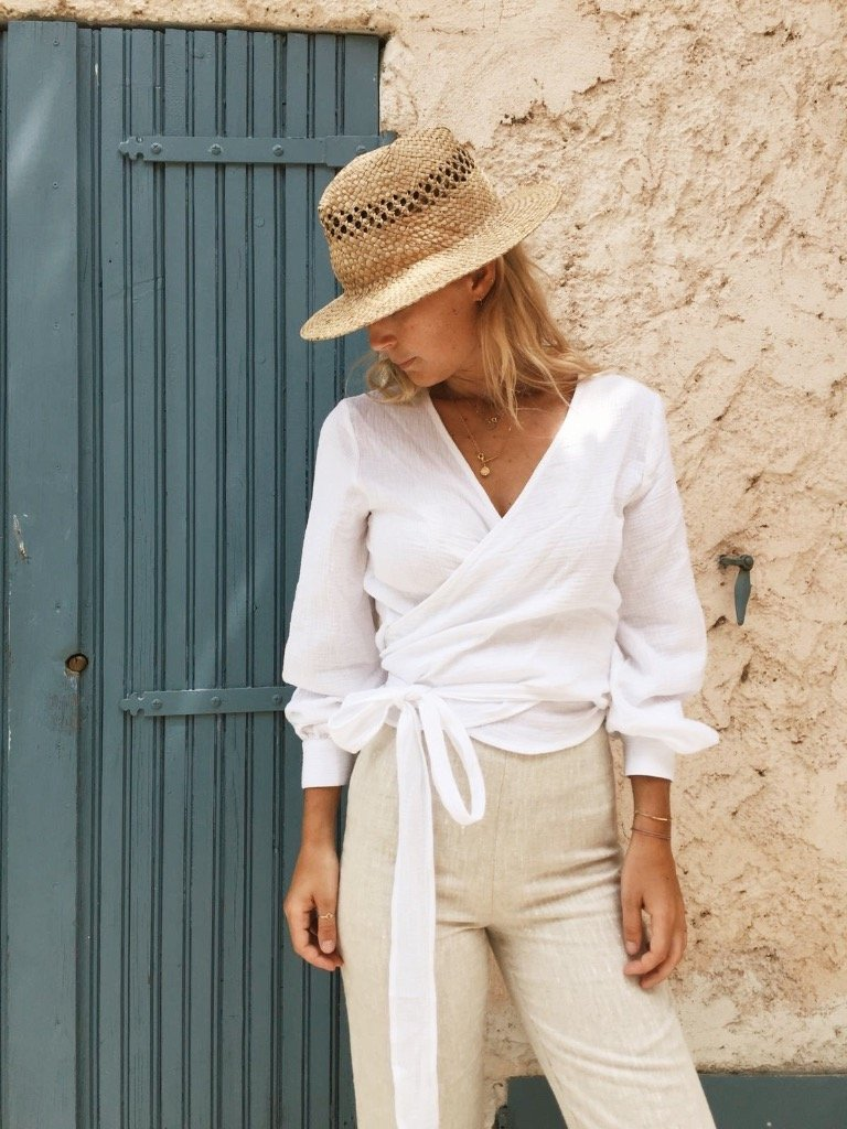Suki Wrap Blouse - White