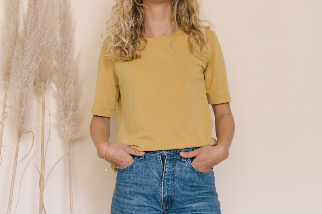PALAVER YELLOW MUSTARD SOFT BLOUSE