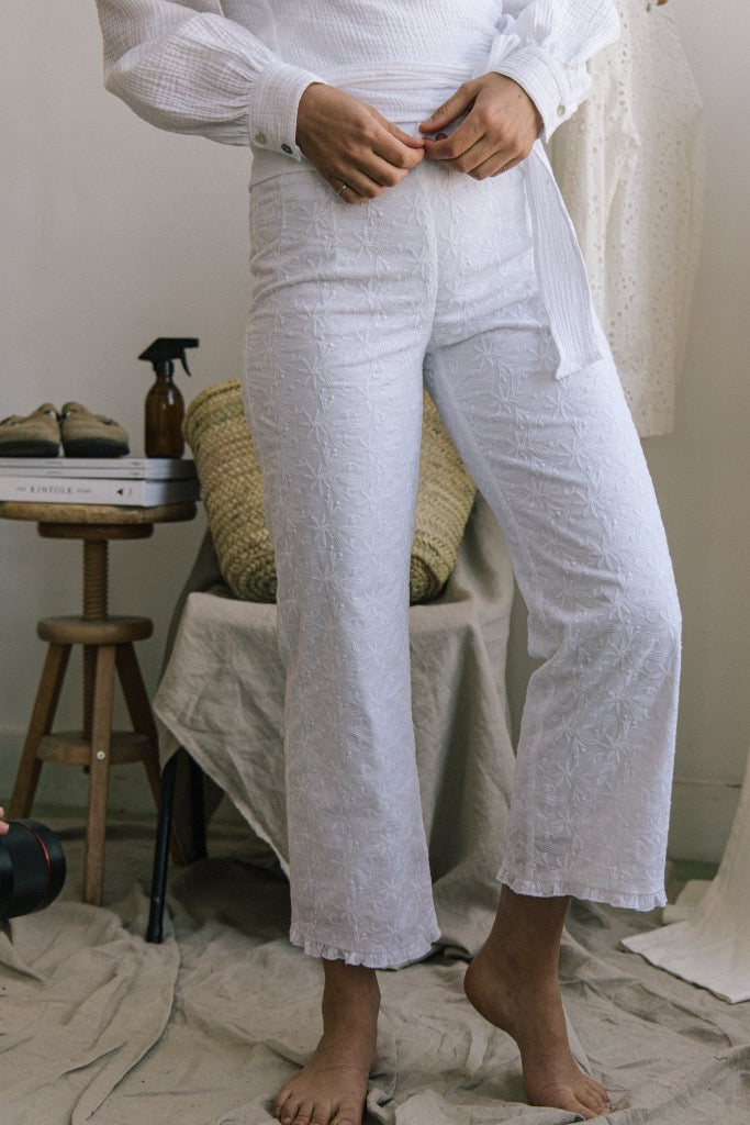 Camille Ruffle Pants