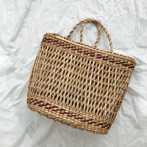 Take Me To Greece Basket Bag