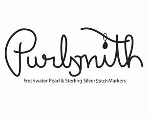 Purlsmith Freshwater Pearl & Sterling Silver Stitch Marker Logo