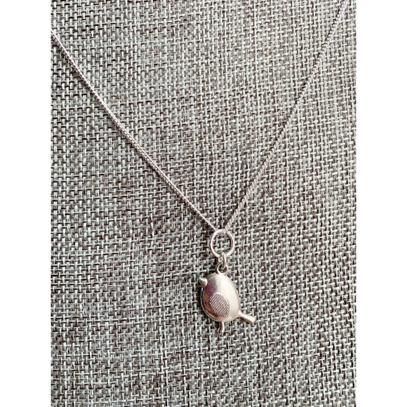 Hope is The Thing with Feathers Charm Necklace