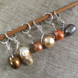 Aromatic Mix Freshwater Pearl Stitch Markers