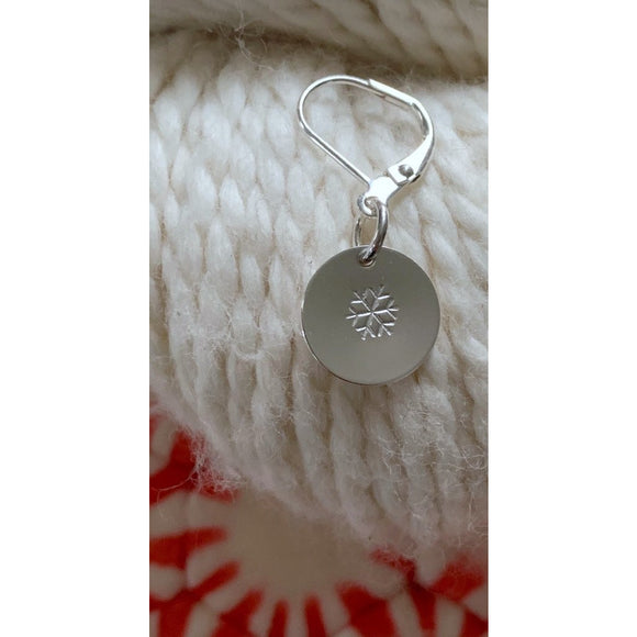 Small Snowflake Silver-Plated Stitch Marker