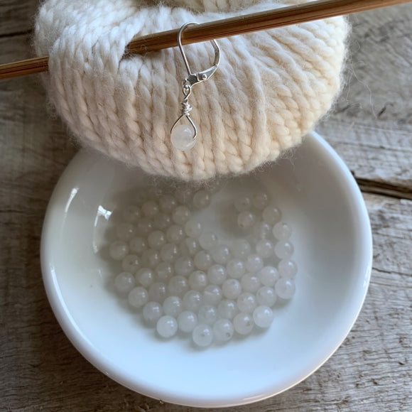 Snow Quartz Gemstone Stitch Markers