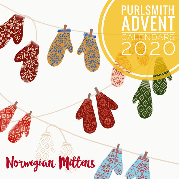 12 Advent Calendar- Norwegian Mittens - Shipping Included