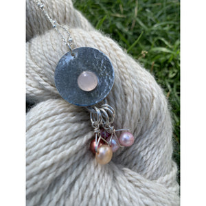 Luna Rose Quartz Sterling Silver Pendant