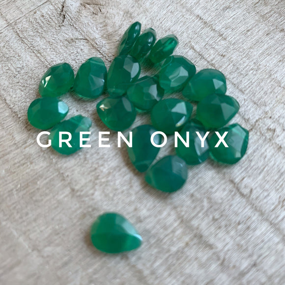 Green Onyx Gemstone Stitch Markers