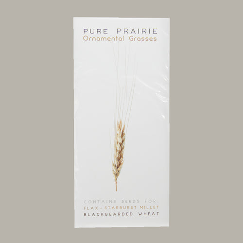 Pure Prairie Ornamental Grasses - Flax, Wheat, & Starburst Millet