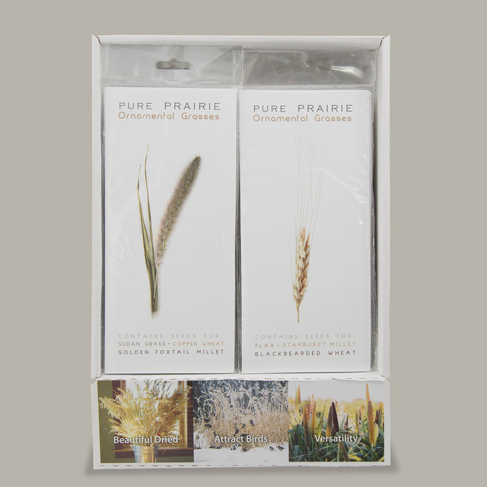 Pure Prairie Ornamental Grasses - Box of 30