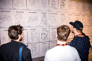 Youtube creator day x One line drawings