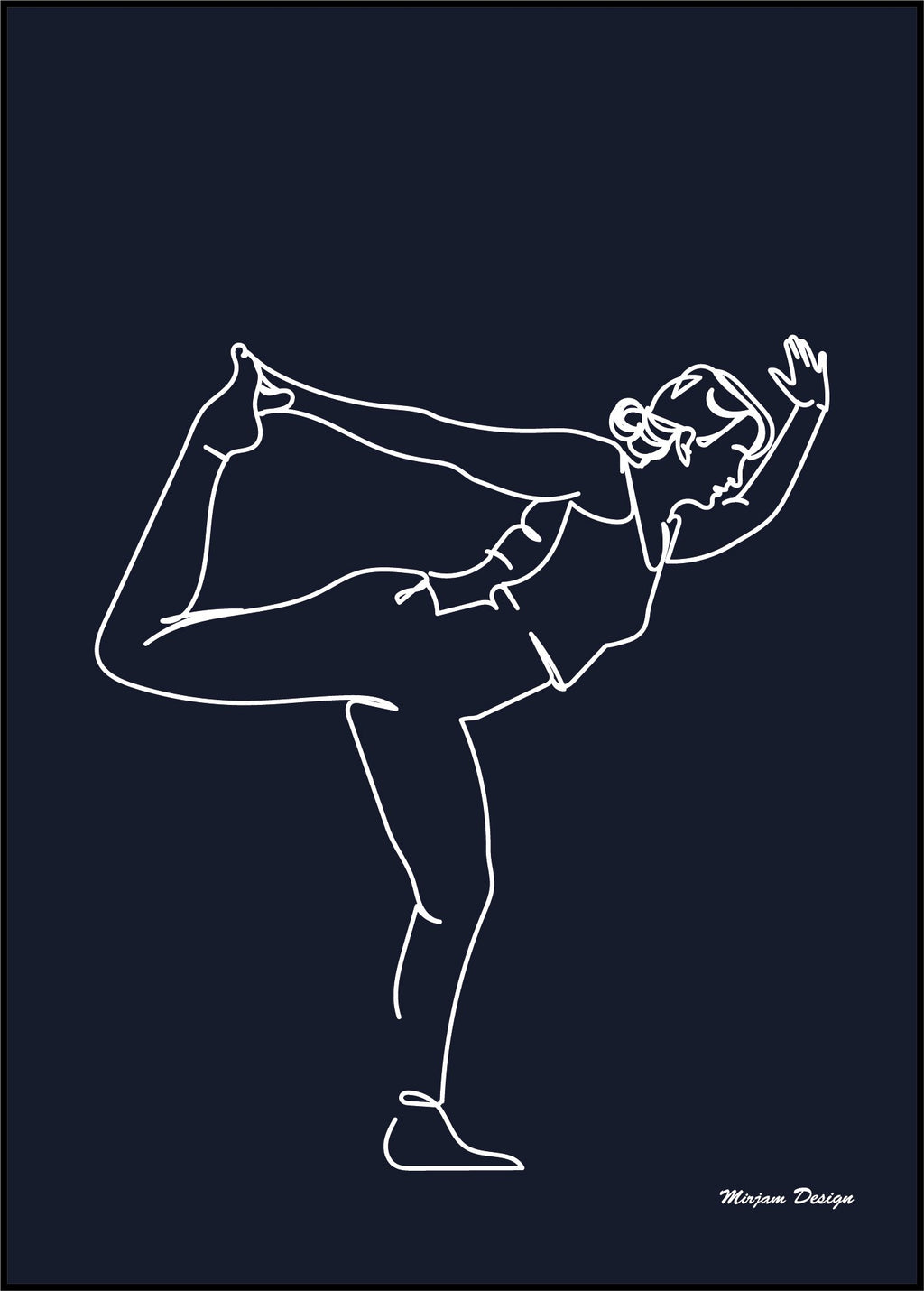Dancer_pose_yoga_poster