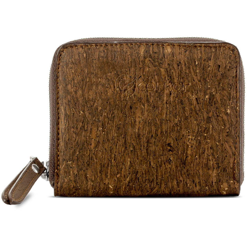 SMALL CORK WALLET with Zip