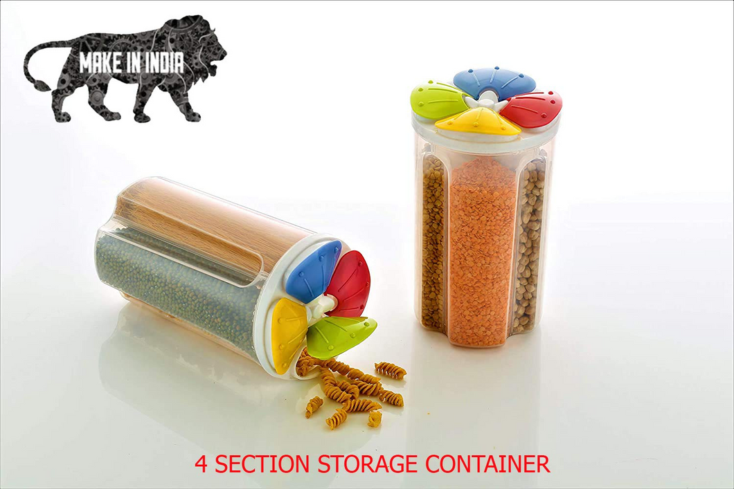 4 Section Storage Container