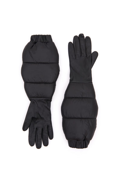 LEATHER PUFFER GLOVES