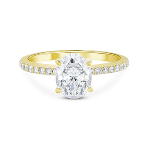 1.5 carat Oval Engagement Ring
