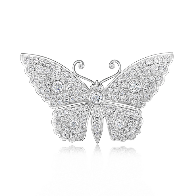 Diamond Butterfly Pin - Best & Co.