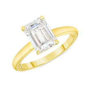 2 Carat Emerald Cut Engagement Ring