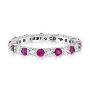 Pink Sapphire and Diamond Band - Best & Co.