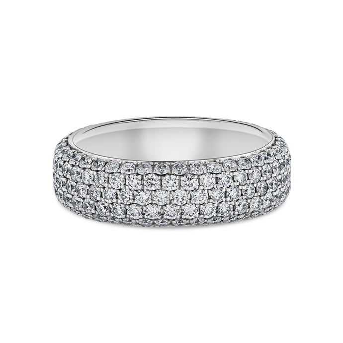 5-Row White Diamond Pavé Band