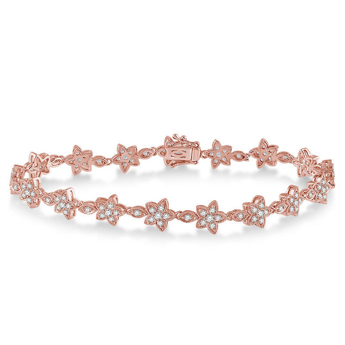 Diamond Flower Bracelet - Best & Co.