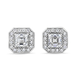 Asscher Halo Studs - Best & Co.