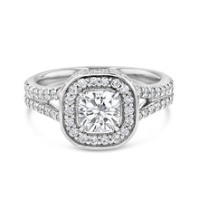 Flawless Cushion Cut Engagement Ring