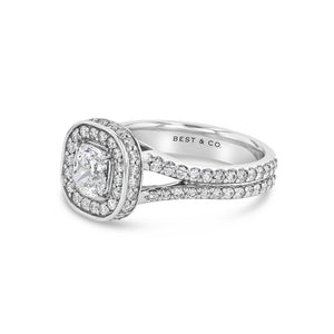 Flawless Cushion Cut Engagement Ring - Best & Co.