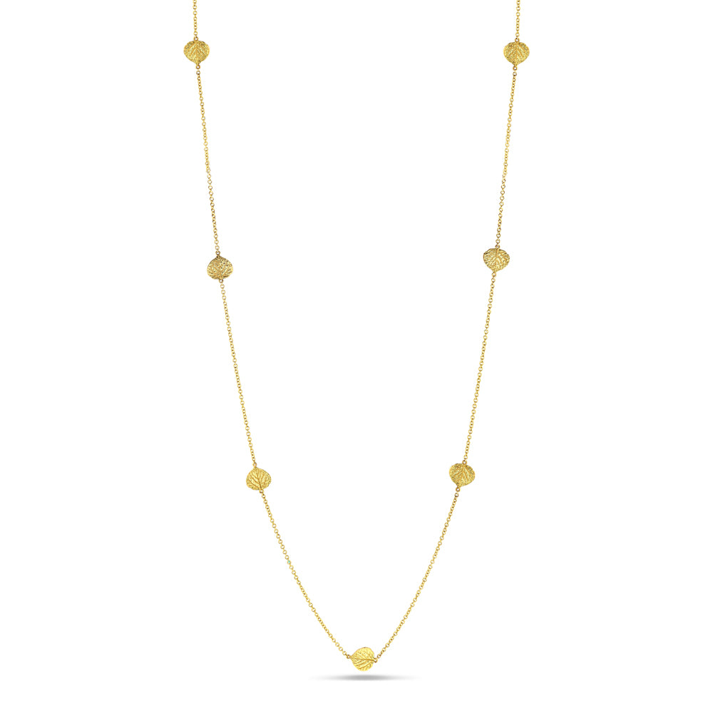 Aspen Leaf Station Necklace (32 inches)