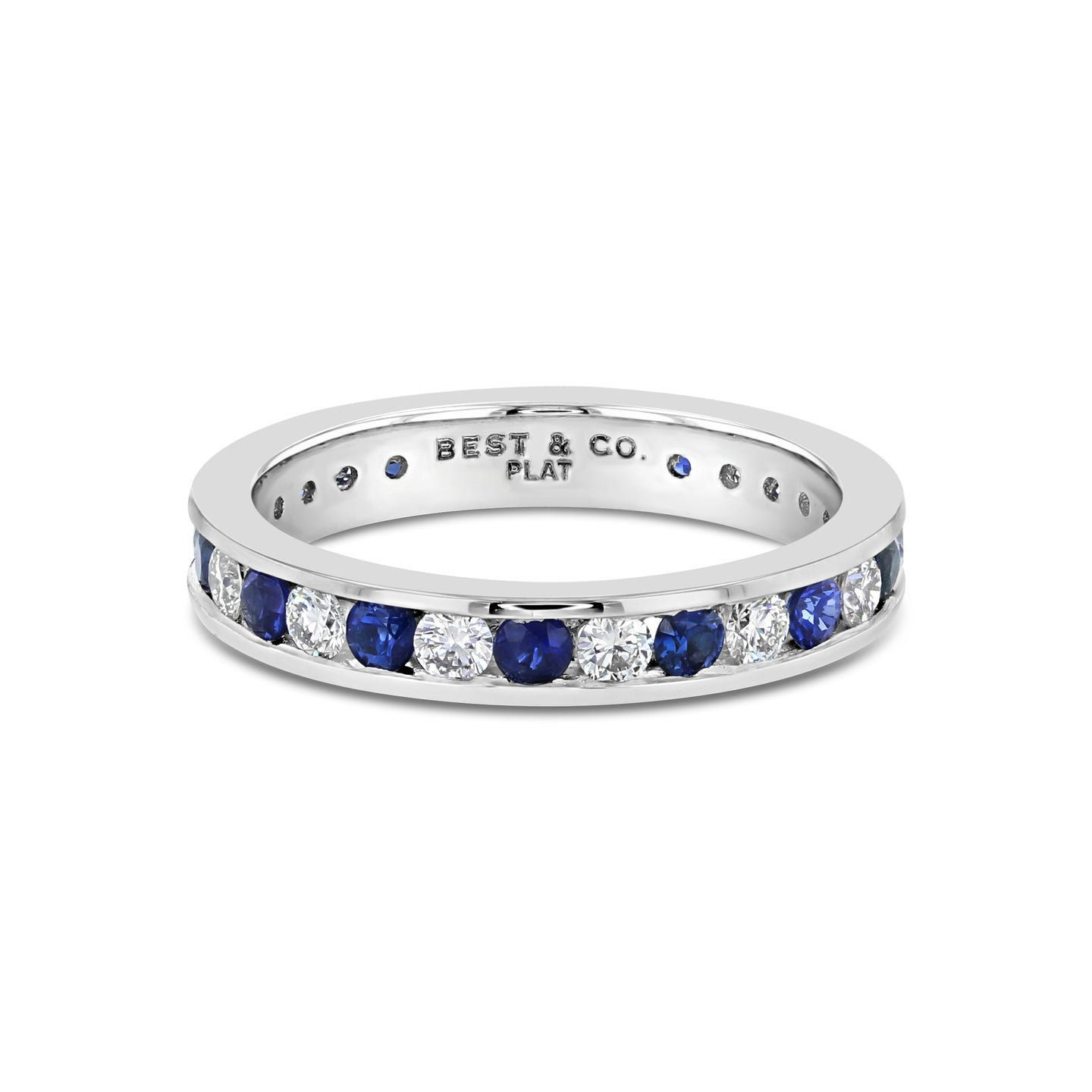 Blue Sapphire and Diamond Band - Best & Co.