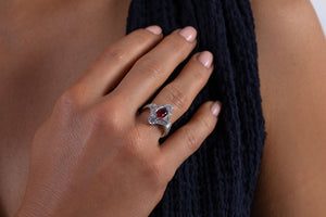 Best & Co. Deco Ruby and Diamond Ring