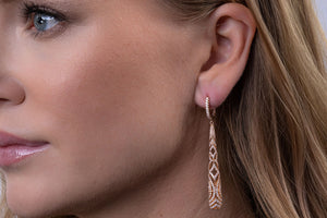 Diamond Barrel Duchess Earrings