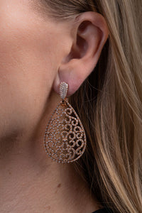 Best & Co. Filigree Teardrop Earrings