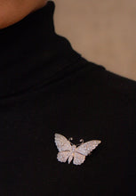 Diamond Butterfly Pin